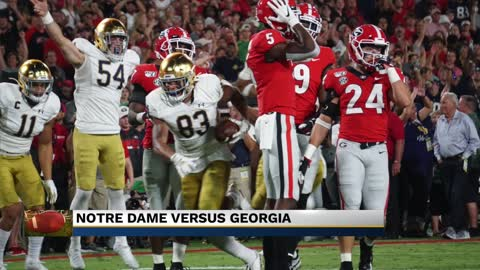 ND football falls to Georgia in top ten showdown